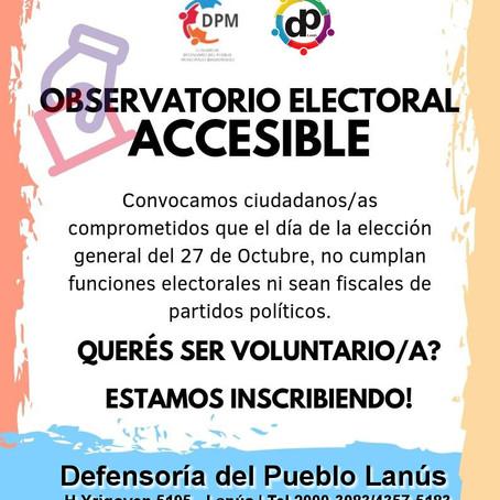 Programa Observatorio Electoral, el Defensor del Pueblo convoca a vecinos y vecinas voluntarios/as