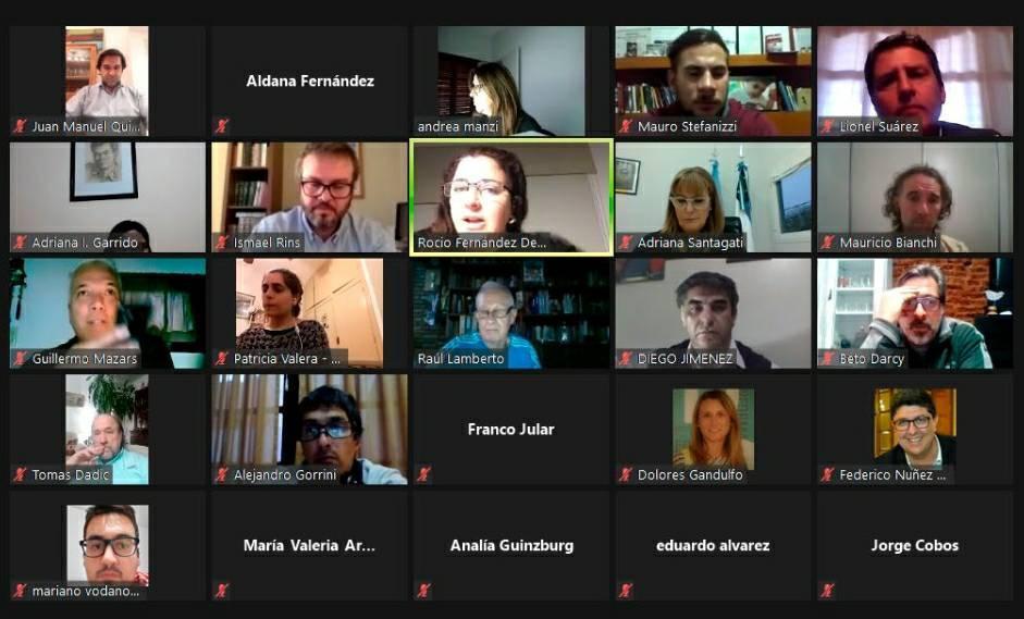 Gorrini en conferencia online con funcionarios de ENARGAS