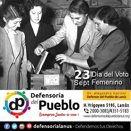 """23 de Septiembre """"Día Nacional de los Derechos Políticos de la Mujer"""" #VotoFemenino"""