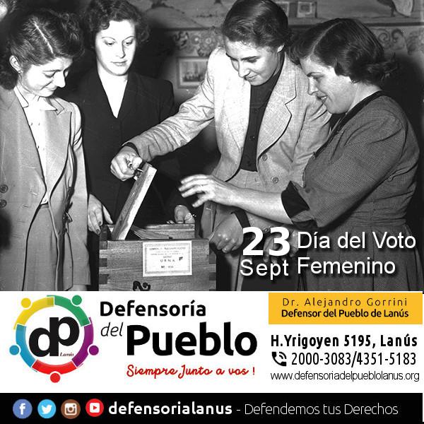 """Día Nacional de los Derechos Políticos de la Mujer"""" #VotoFemenino."""