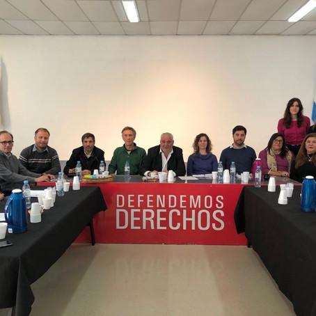 Ahora: Reunión con Defensores del Pueblo de la cuenca Matanza Riachuelo preocupados por la situación
