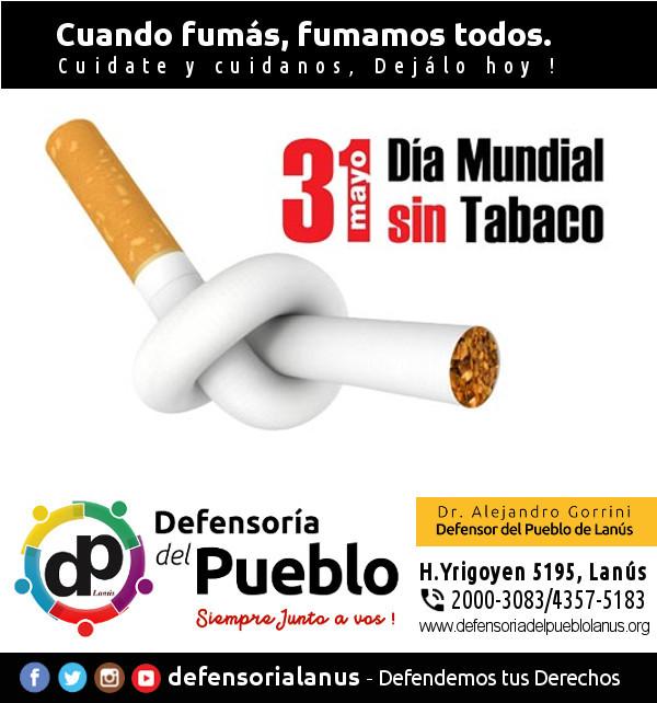 Dia mundial sin tabaco - Defensoría del Pueblo Lanús