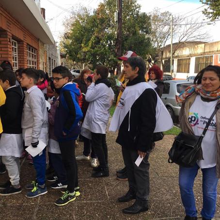 Estudiantes de 6°año realizaron una campaña de concientización sobre el cuidado del medio ambiente
