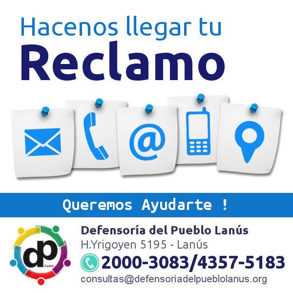 Defensoria del Pueblo de Lanús Teléfonos Contacto