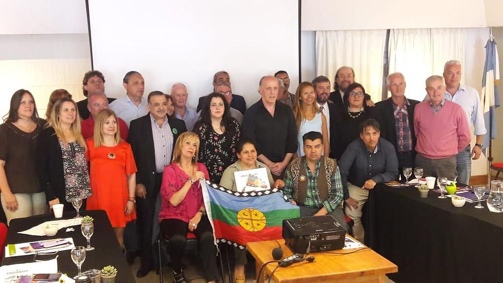 Visita a la Plenaria de Ariel Epulef, lonko de la Comunidad Mapuche Curruhuinca