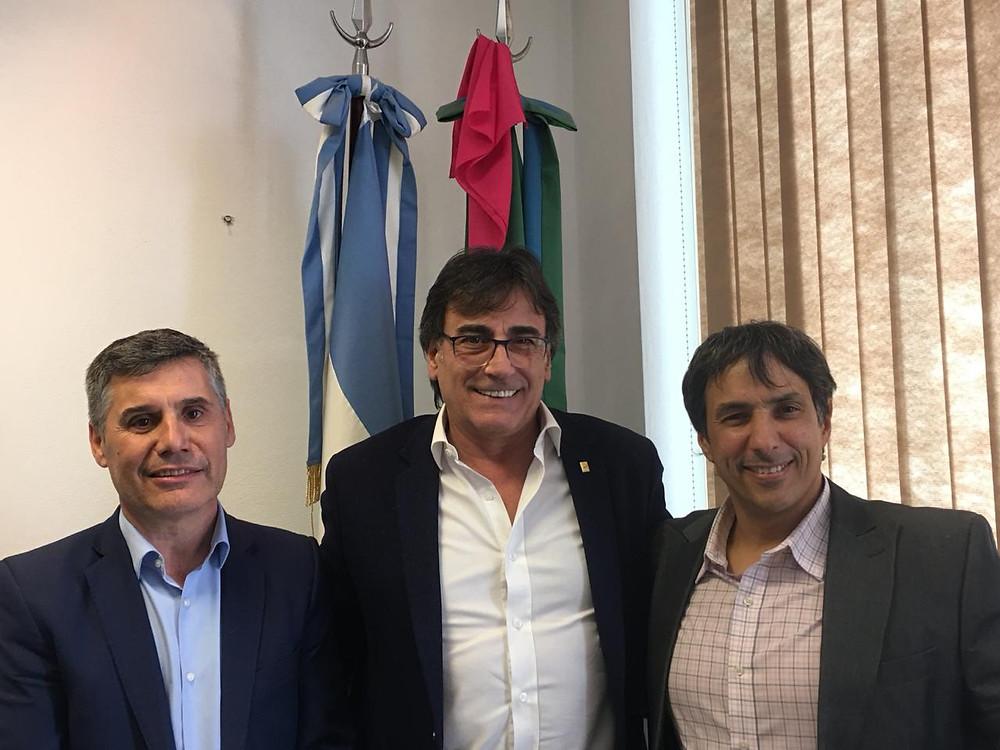 Alejandro Gorrini junto a Ruben Eslaiman y Walter Martello