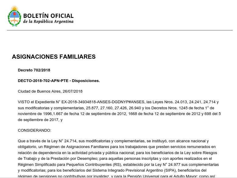 Decreto 702/2018 - Defensoria del Pueblo Lanus