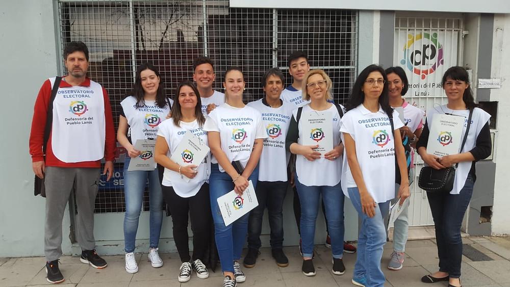 El Observatorio Electoral estuvo conformado por una red de voluntarios y agentes de la Defensoría del Pueblo de Lanús