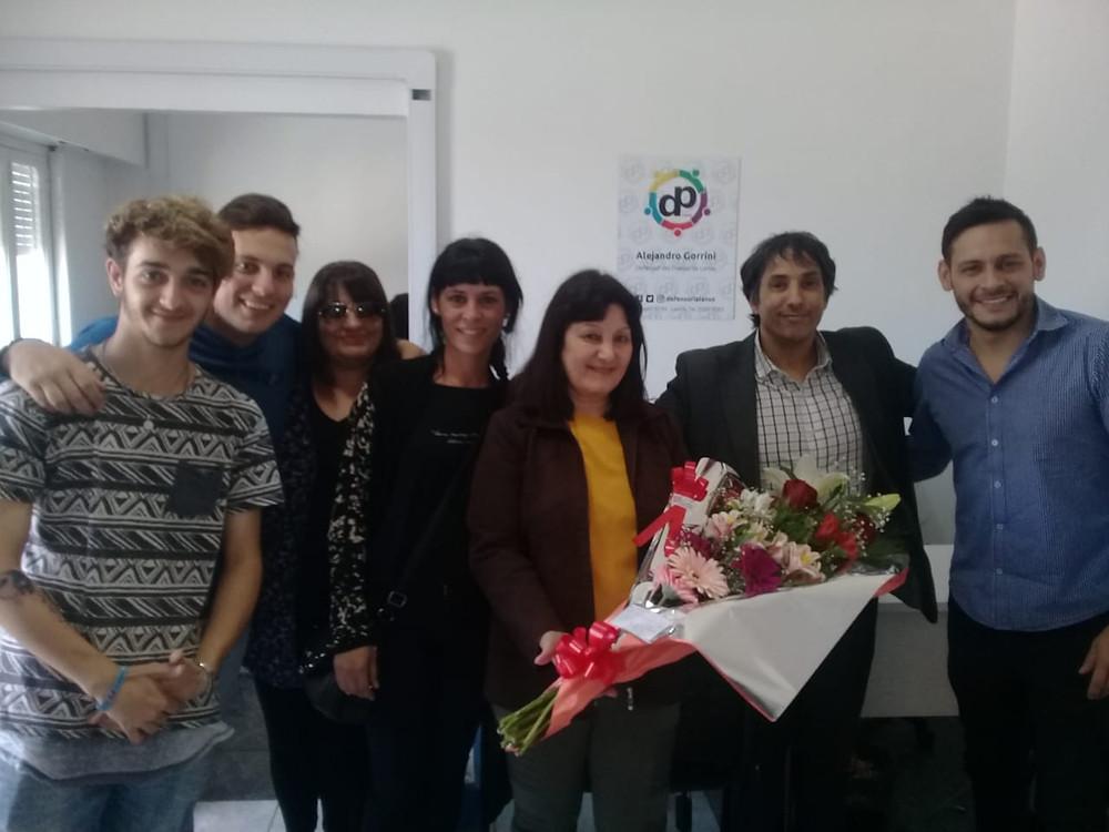 Silvia Galloso recibió el reconocimiento por 30 años de servicio