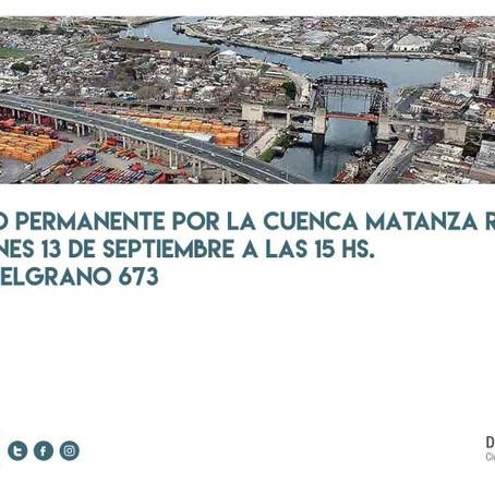 El Defensor Alejandro Gorrini participará en el Foro Permanente por la Cuenca Matanza Riachuelo