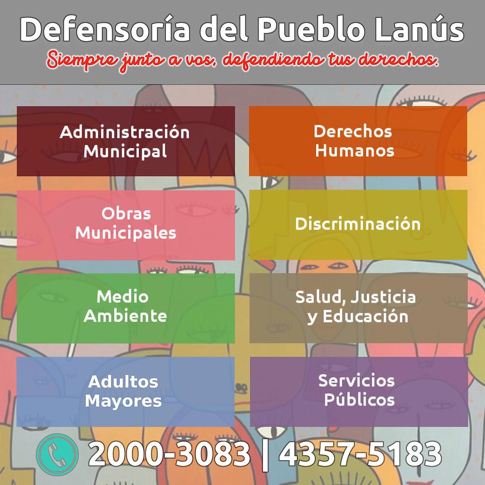 Funciones de la Defensoria del Pueblo de Lanús
