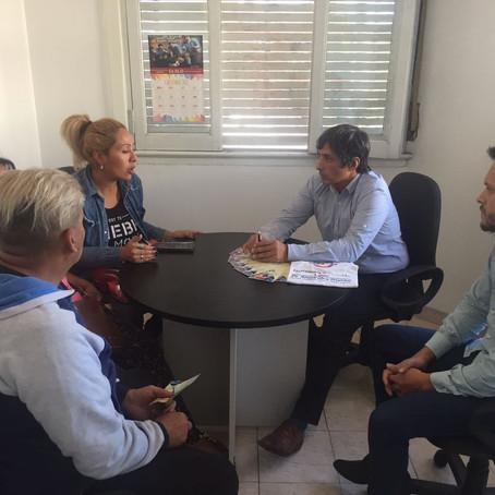 El Defensor del Pueblo se reunió hoy con un grupo de vecinos del Barrio 9 de Julio