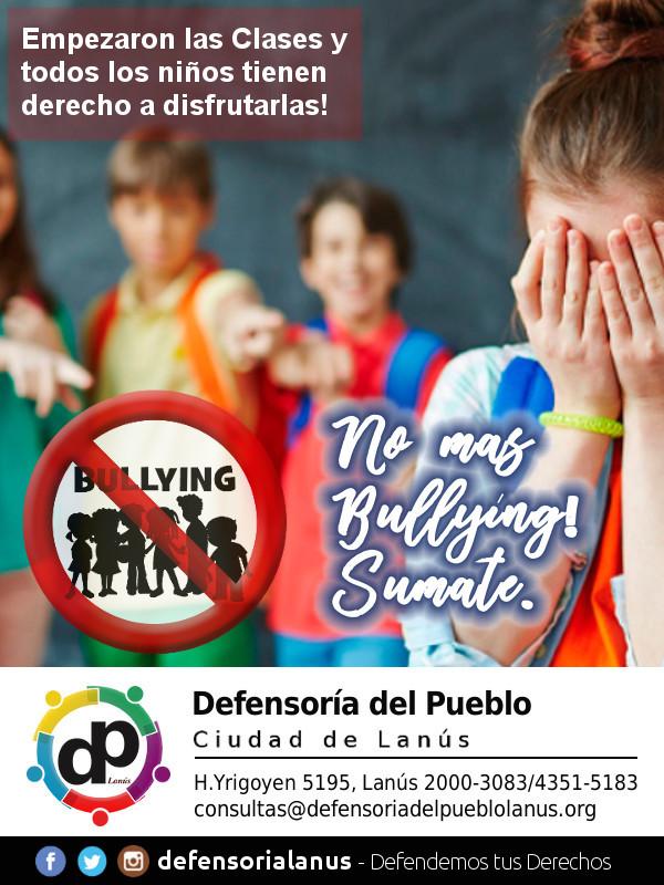 Sumate a la campaña contra el Bullying