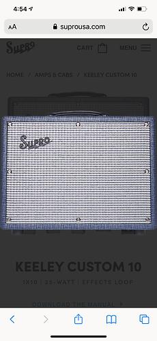 Supro KEELEY CUSTOM 12 1X12   25-WATT