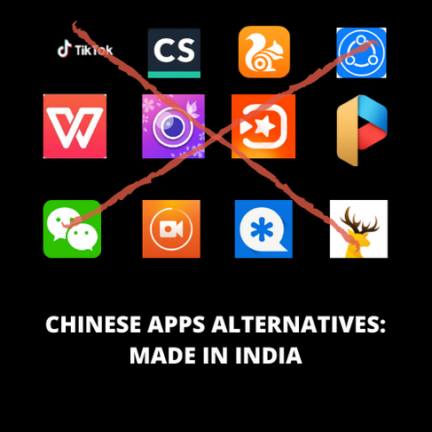 CHINESE APPS ALTERNATIVES: MADE IN INDIA