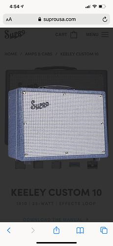 Supro KEELEY CUSTOM 10 1X10   25-WATT   EFFECTS LOOP
