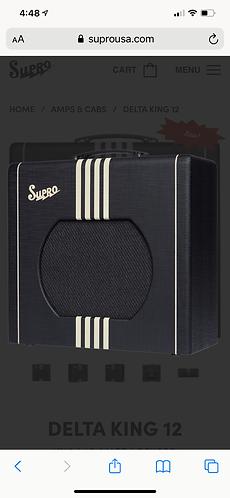 Supro DELTA KING 12 1X12 | 15-WATT | REVERB