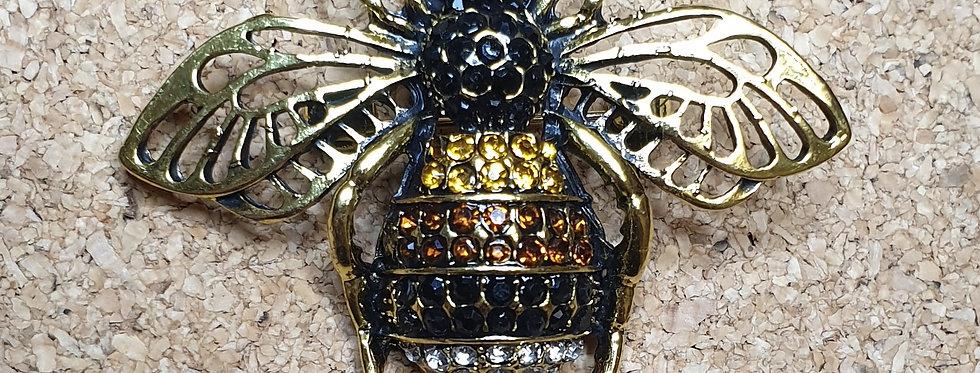 Bumblebee Brooch - Brown