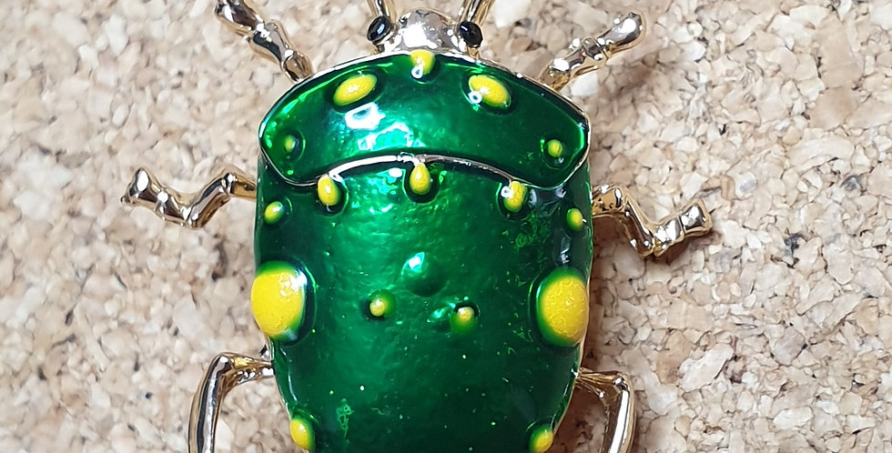 Stinkbug Brooch - Dark Green