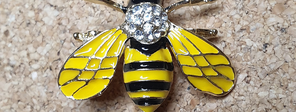Bee Brooch - Yellow Wings