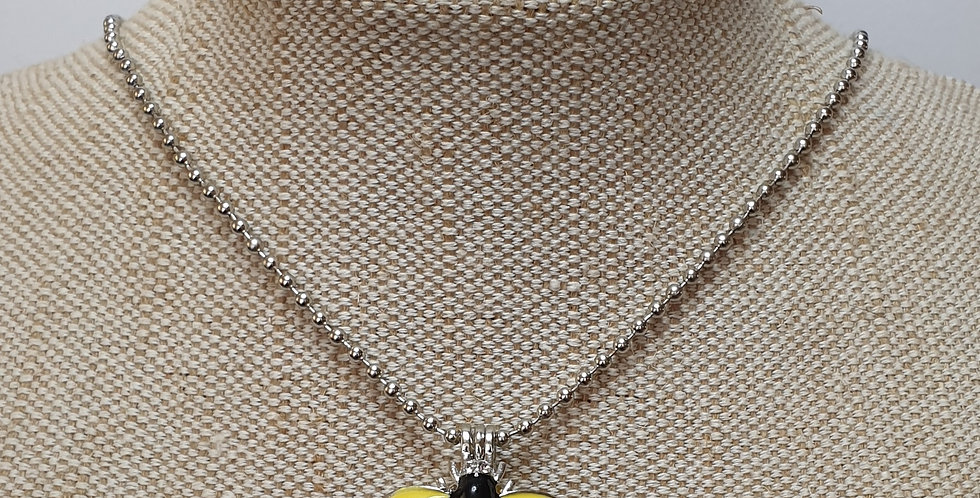 Bee Aroma Diffuser Necklace - Yellow & Black Wings