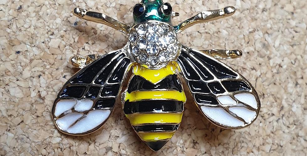 Bee Brooch - Green Head
