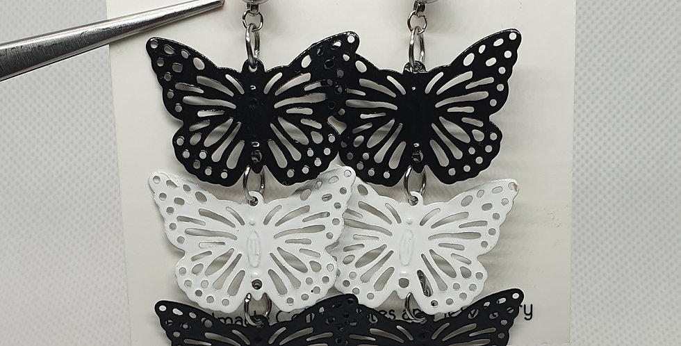 Black & White Butterflies earrings
