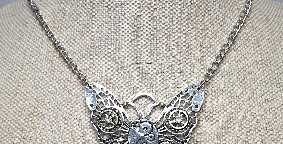 Vintage Steampunk Butterfly - Silver