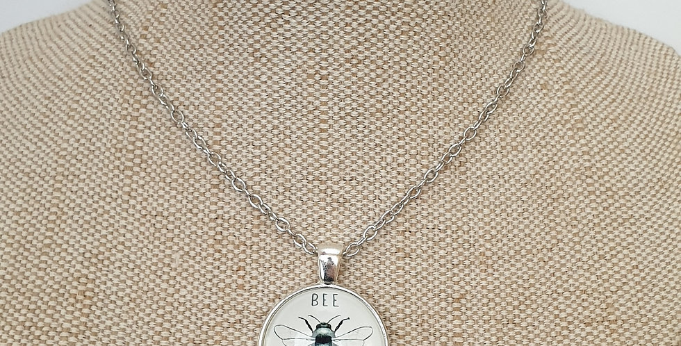 Bee Kind Necklace - Silver