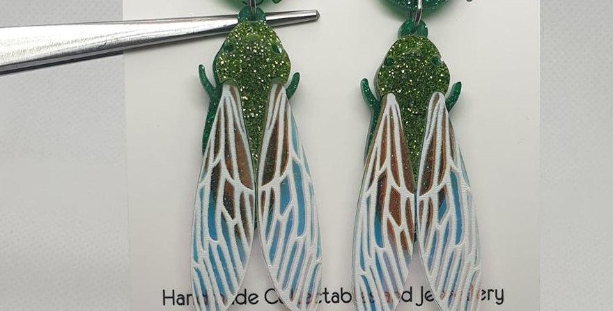 Cicada acrylic earrings