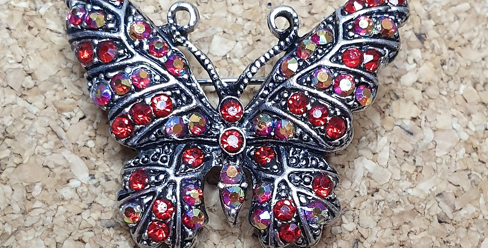 Butterfly Brooch - Red