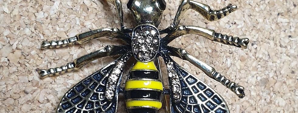 Hornet Wasp Brooch - Black Wings