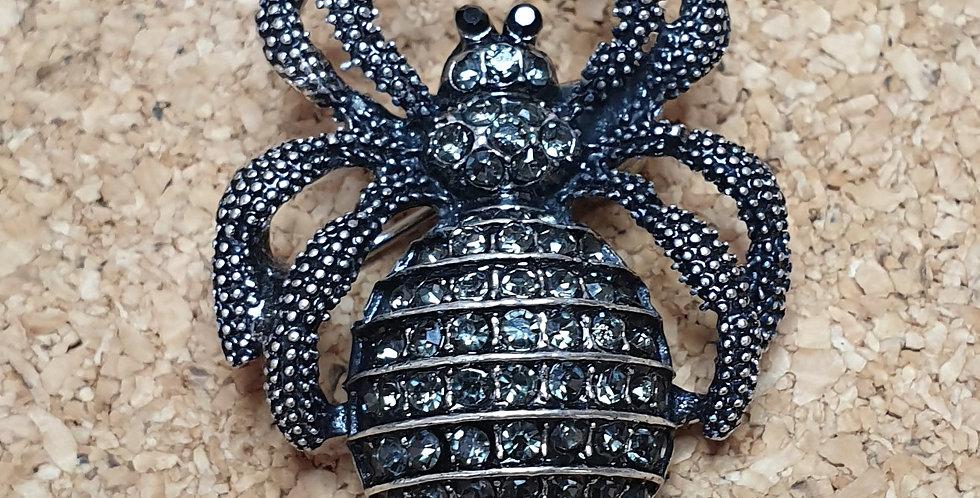 Spider Brooch - Small Dark