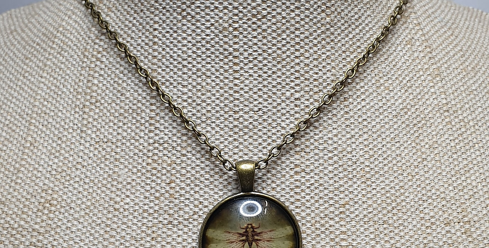 Dragonfly Necklace - Yellow Wings