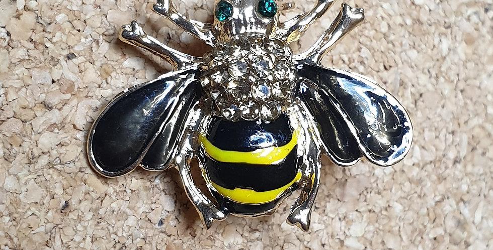 Bee Brooch - Black Wings Yellow Body