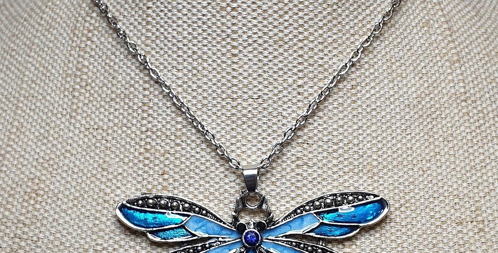 Dragonfly Pendant - Blue