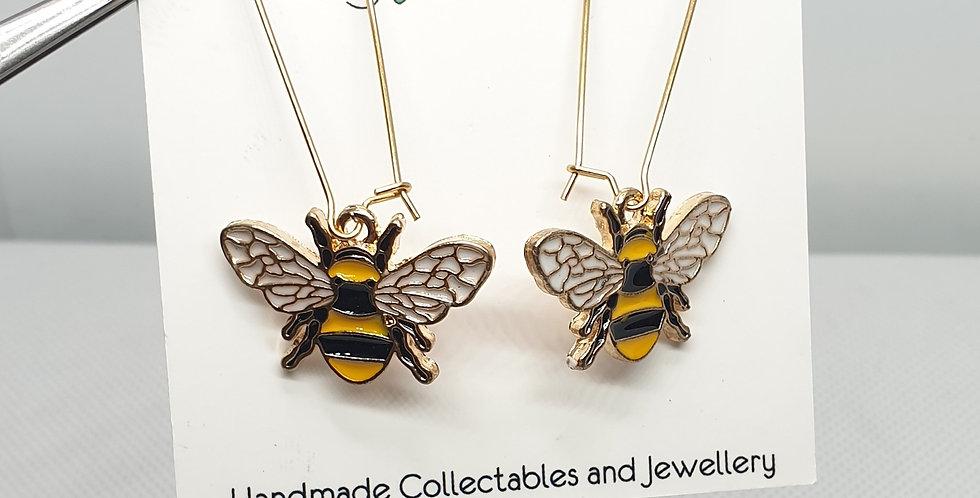 Golden Bee Long Earrings