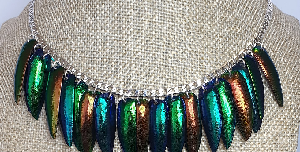 Rainbow wide chain - Sterling Silver