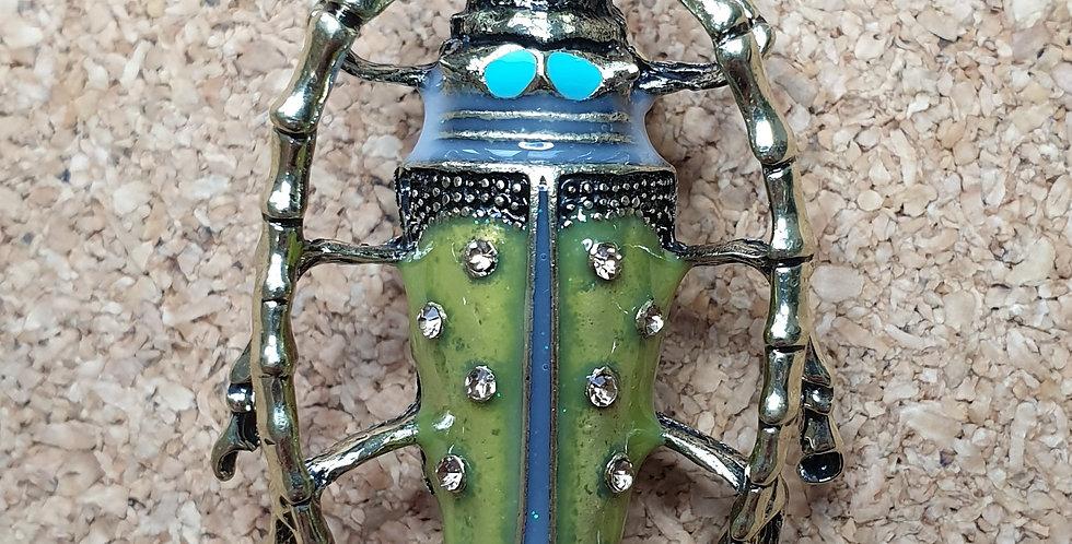 Longicorn Beetle Brooch - Yellow