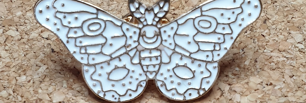 Moth Brooch - White