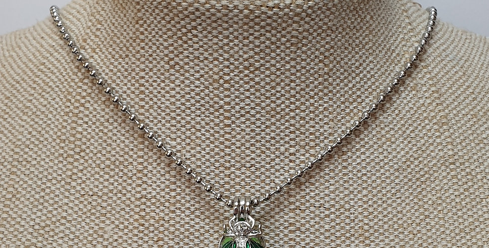 Bee Aroma Diffuser Necklace - Green Wings