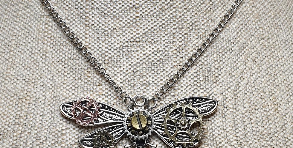 Vintage Steampunk Dragonfly - Silver