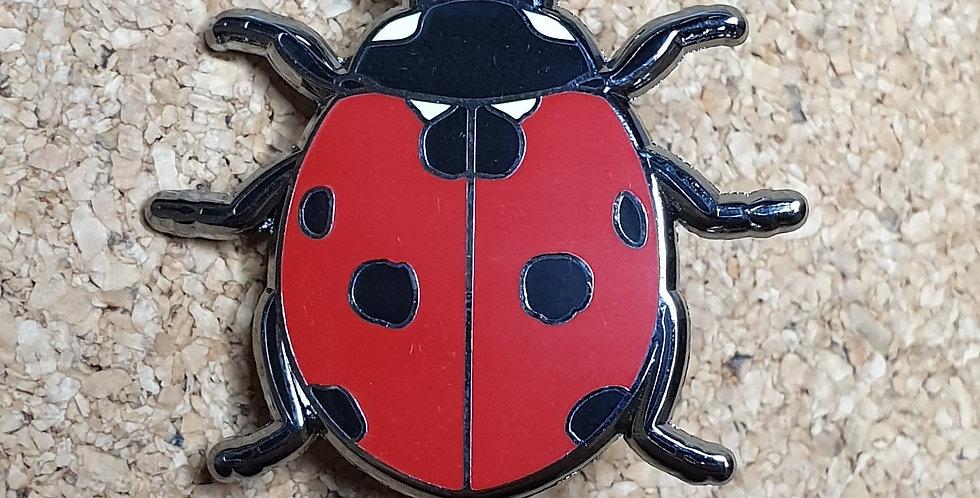 Ladybird Beetle Brooch - Flat