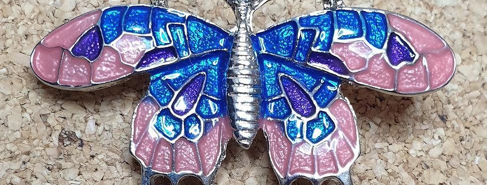 Butterfly Brooch - Pink & Blue