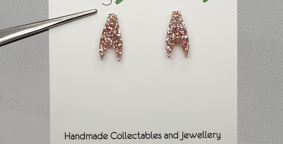 Tiny Moth studs acrylic earrings
