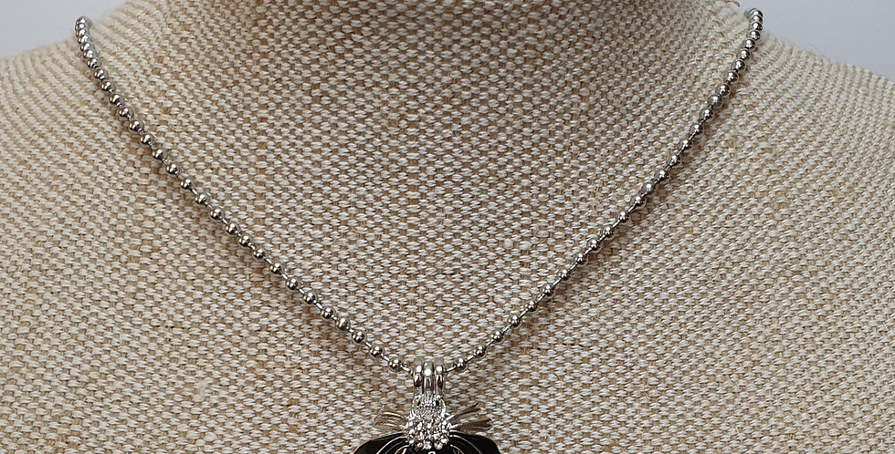 Bee Aroma Diffuser Necklace - Silver