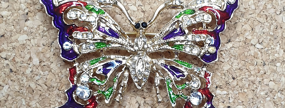 Butterfly Brooch - Purple Tip