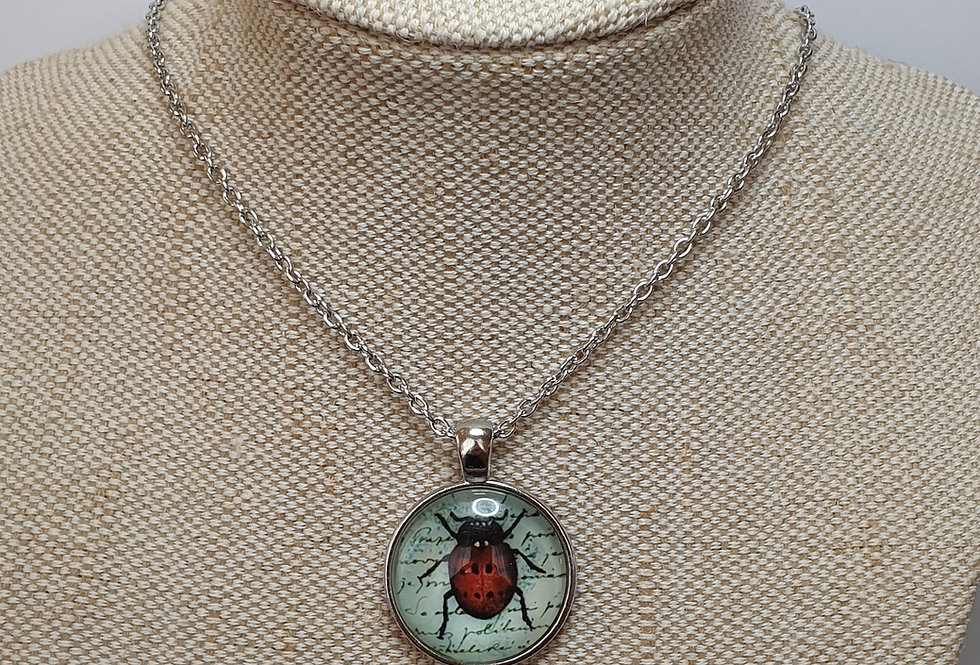 Ladybird Necklace - Silver