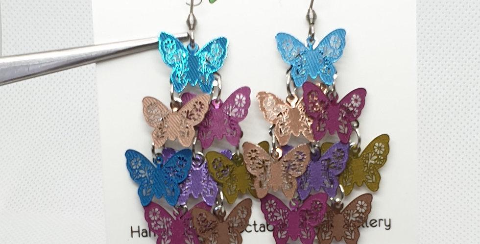 Mixed Butterflies dangle earrings