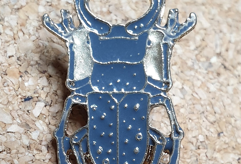 Stag Beetle Brooch - Gold